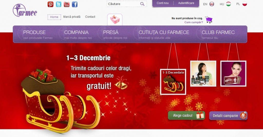 Promo Craciun site Farmec