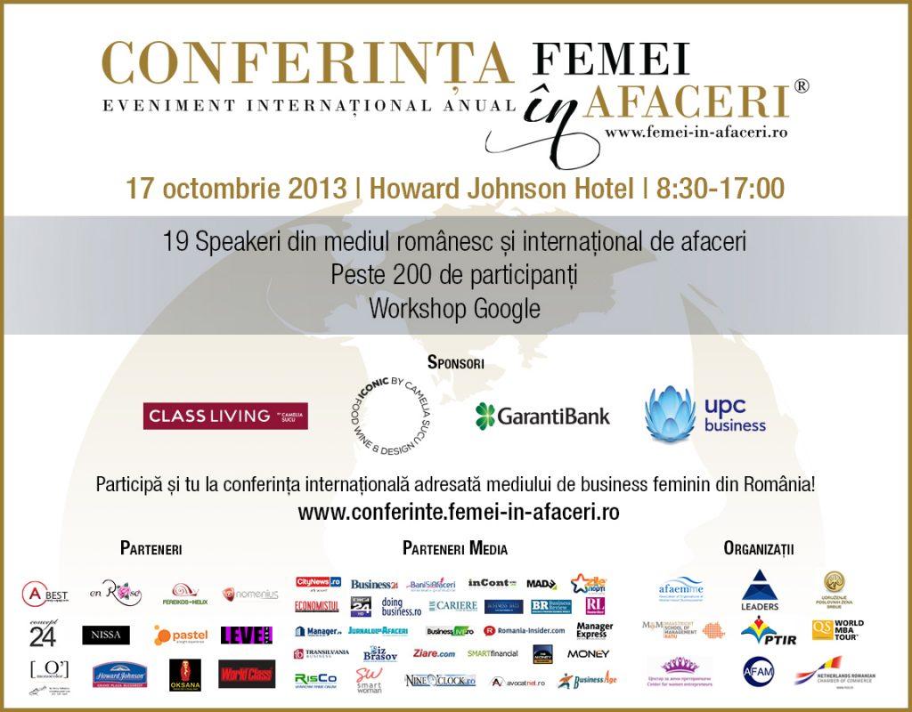 Macheta Conferinta Internationala Femei in Afaceri_24 septembrie 2013