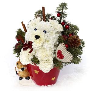 foto 3 aranjament floral craciun